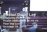 Sermon – Doug Lay – 10-19-19