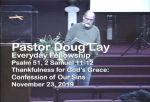 Sermon – Doug Lay – 11-23-19