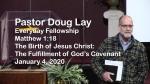 Sermon – Doug Lay – 1-4-20