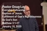 Sermon – Doug Lay – 1-18-20