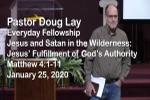 Sermon – Doug Lay – 1-25-20