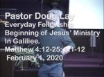 Sermon – Doug Lay – 2-1-20