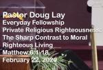 Sermon – Doug Lay – 2-22-20