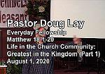 Sermon – Doug Lay – 8-1-20
