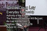 Sermon – Doug Lay – 8-22-20