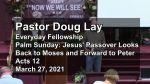 Sermon – Doug Lay – 3/27/21
