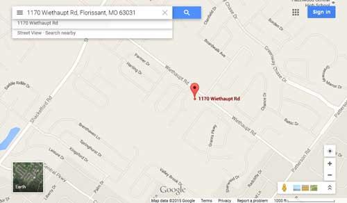 Google Map 1170 Wiethaupt
