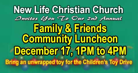 Family and Friends Community Luncheon December 17, 2016